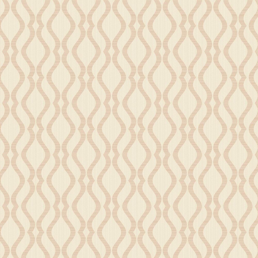 Broken String Geometric Wallpaper - Cream / Copper - by Albany