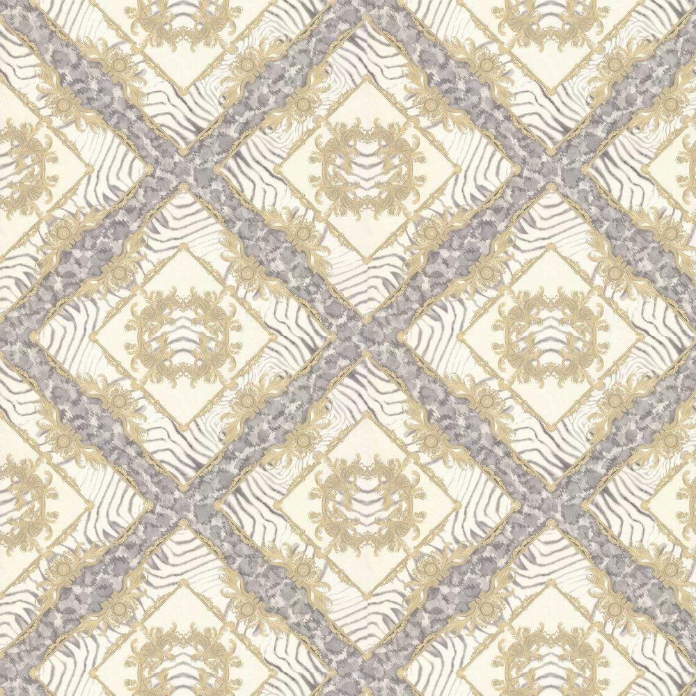 Versace Vasmara Motif  Cream / Grey Wallpaper - Product code: 34904-2