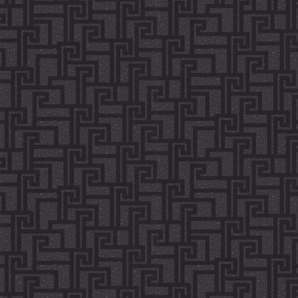 Versace Small Greek Key Charcoal Wallpaper - Product code: 96236-3