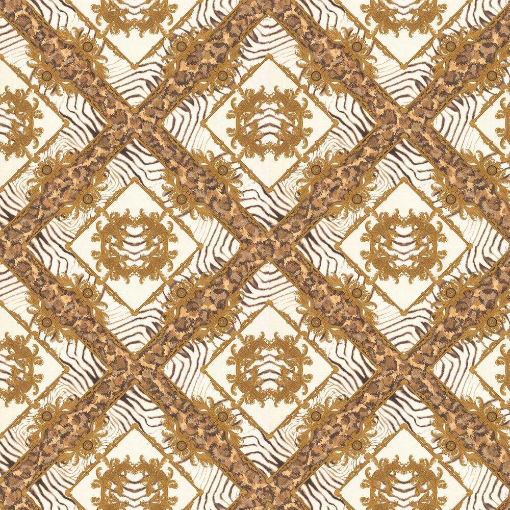 Versace Vasmara Motif  White / Gold Wallpaper - Product code: 34904-3