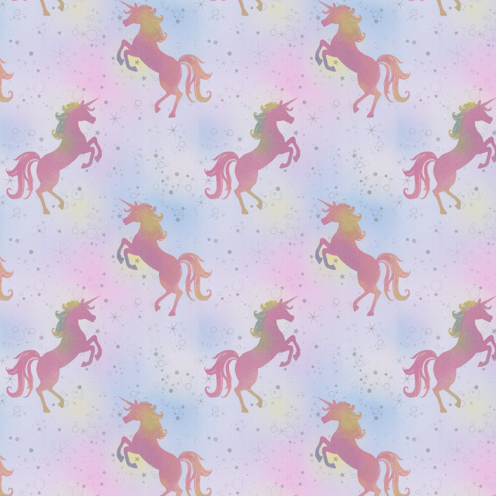Dancing Unicorn Wallpaper - Rainbow - by Albany