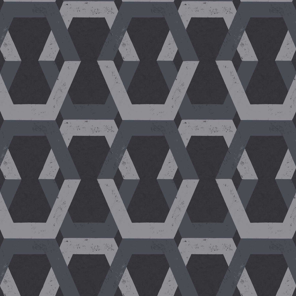 Tribe Wallpaper - Black - by Engblad & Co