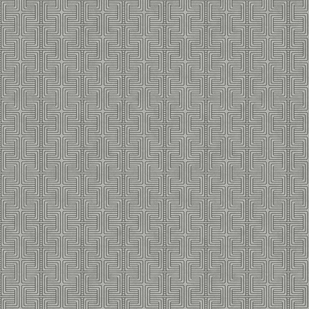 Geo Tribe Wallpaper - Grey - by Engblad & Co