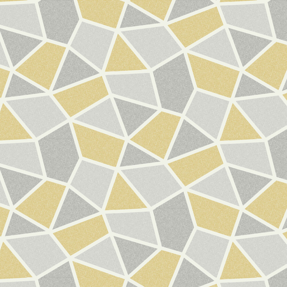 Albany Arendal Geo Mustard Wallpaper - Product code: M1475