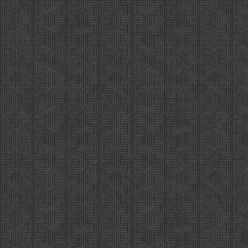 Geo Tribe Wallpaper - Black - by Engblad & Co