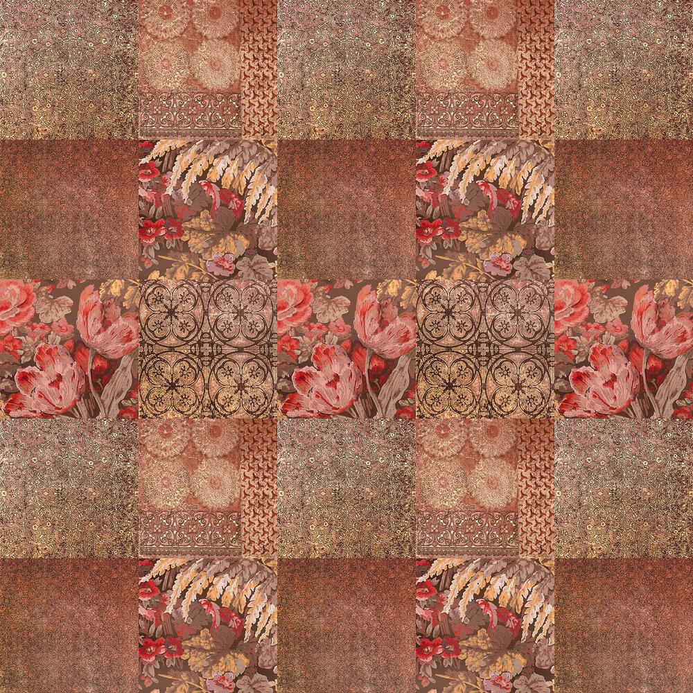 Majolica Phoenix Wallpaper - Rust - by Coca Cola