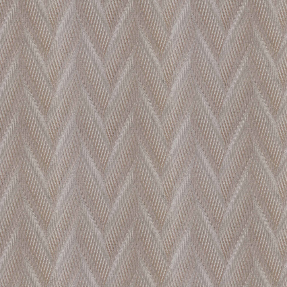 Houston Wave Wallpaper - Taupe - by Coca Cola