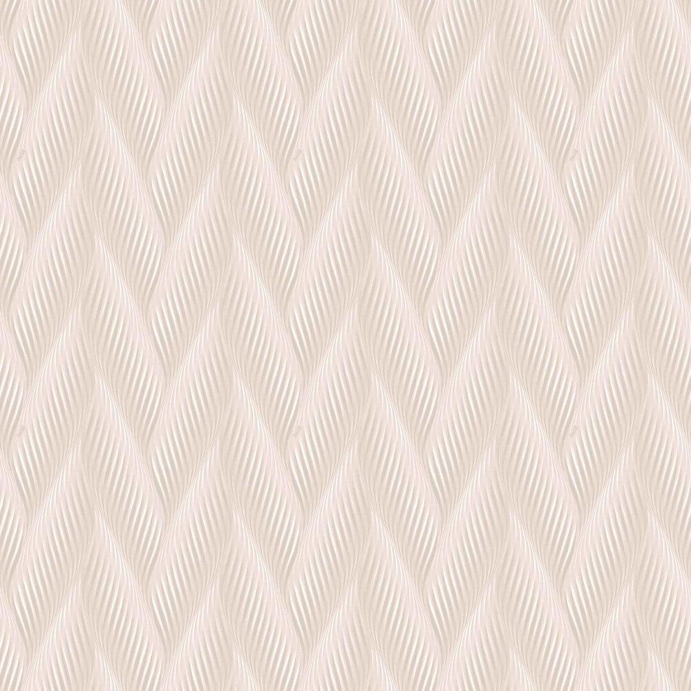 Houston Wave Wallpaper - Blush Pink - by Coca Cola