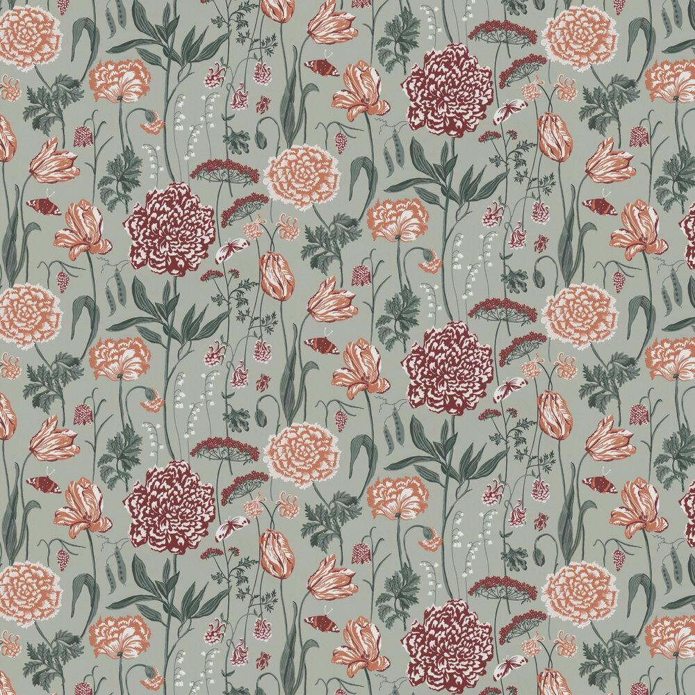 Aurelie Wallpaper - Sage Green - by Sandberg