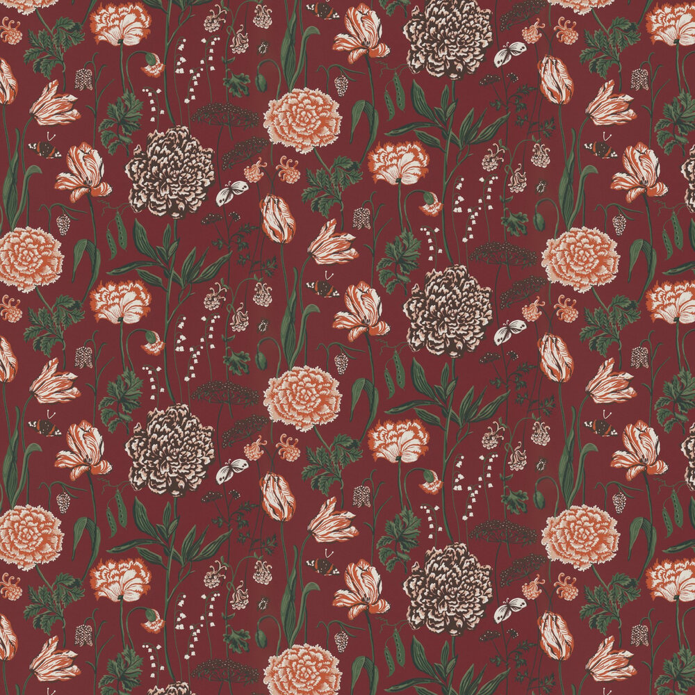 Sandberg Aurelie Red Wallpaper - Product code: 434-84