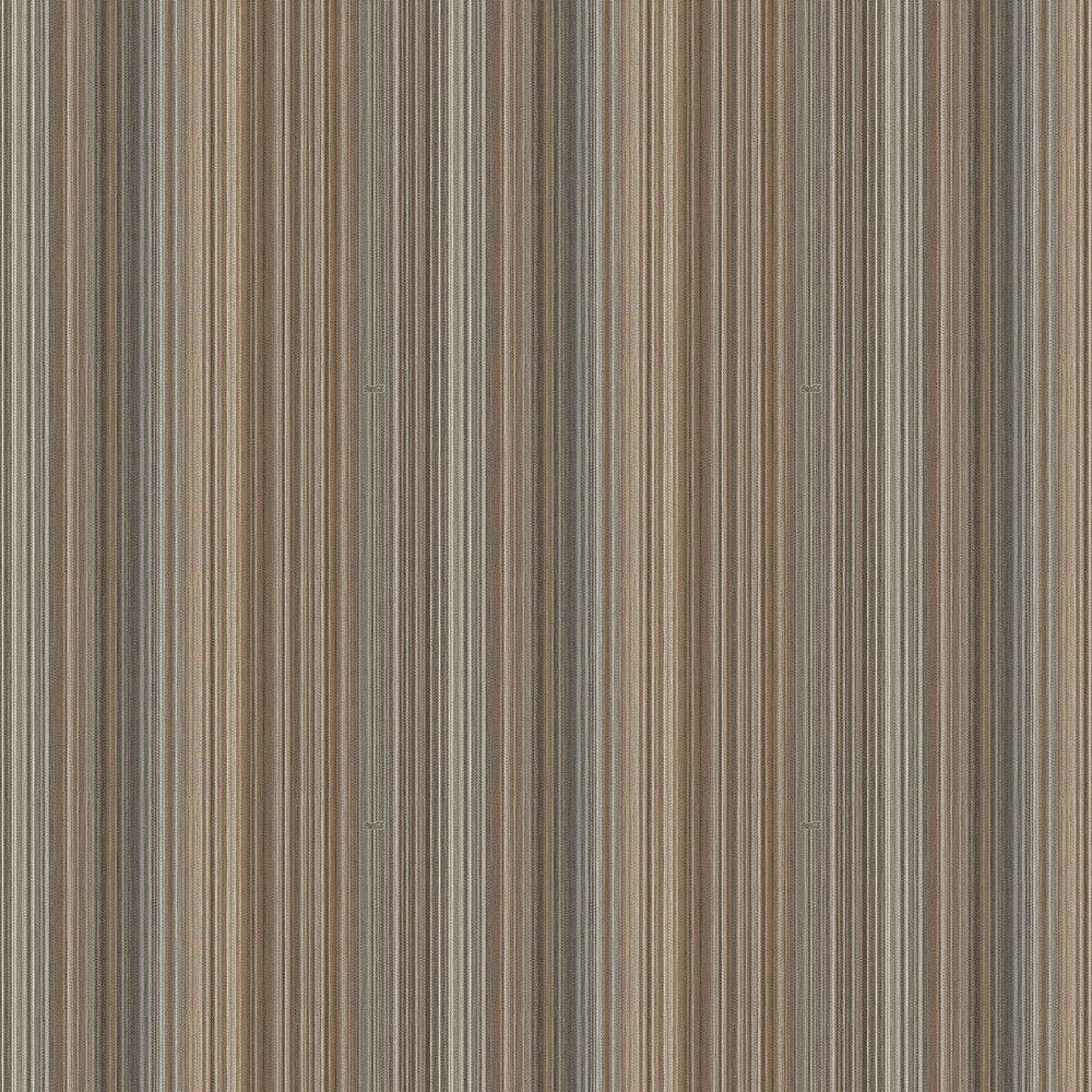 Multicolour Thin Stripes Wallpaper - Brown & Denim - by Coca Cola