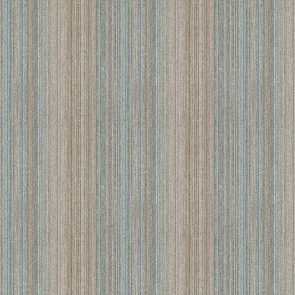 Multicolour Thin Stripes Wallpaper - Ice Blue - by Coca Cola