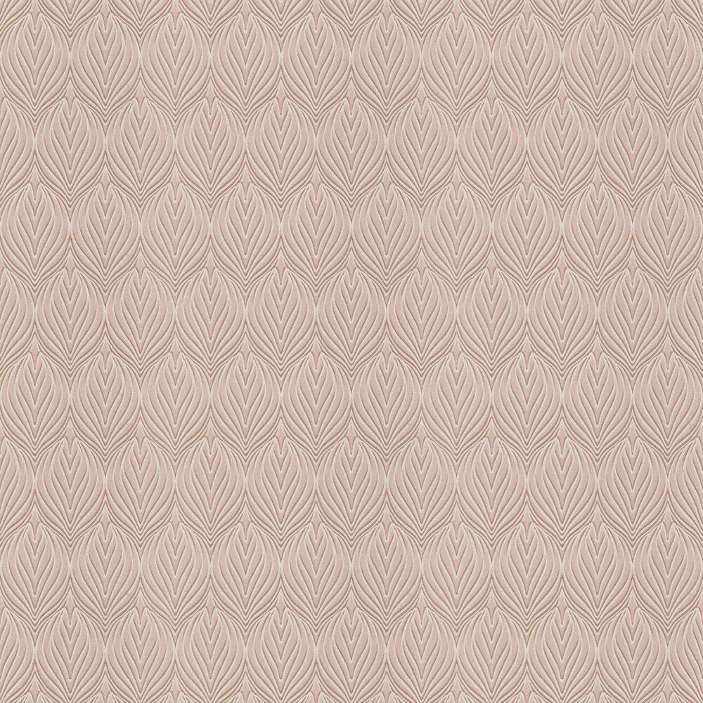 Minneapolis Damask Wallpaper - Blush Pink - by Coca Cola