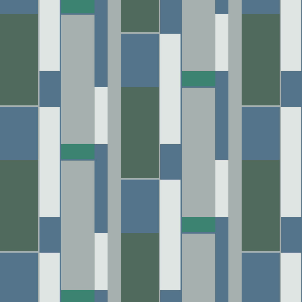 Opulent Wallpaper - Teal - by Hooked on Walls