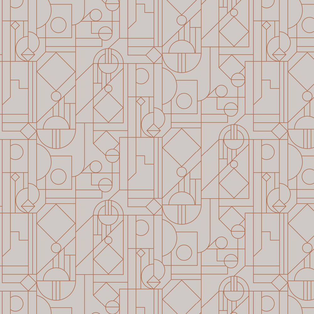 Lush Wallpaper - Grey / Copper - by Hooked on Walls