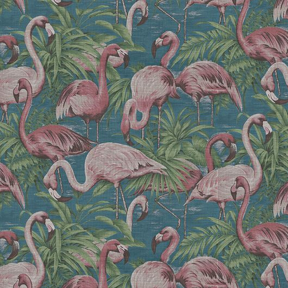 Flamingo Wallpaper - Blue / Pink - by Arte