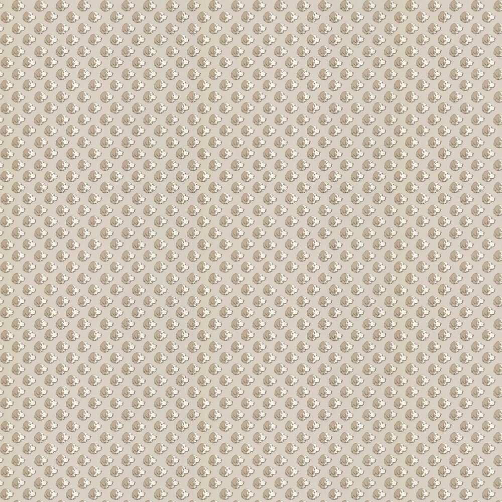 On the Scent Wallpaper - Stone - by Mulberry Home