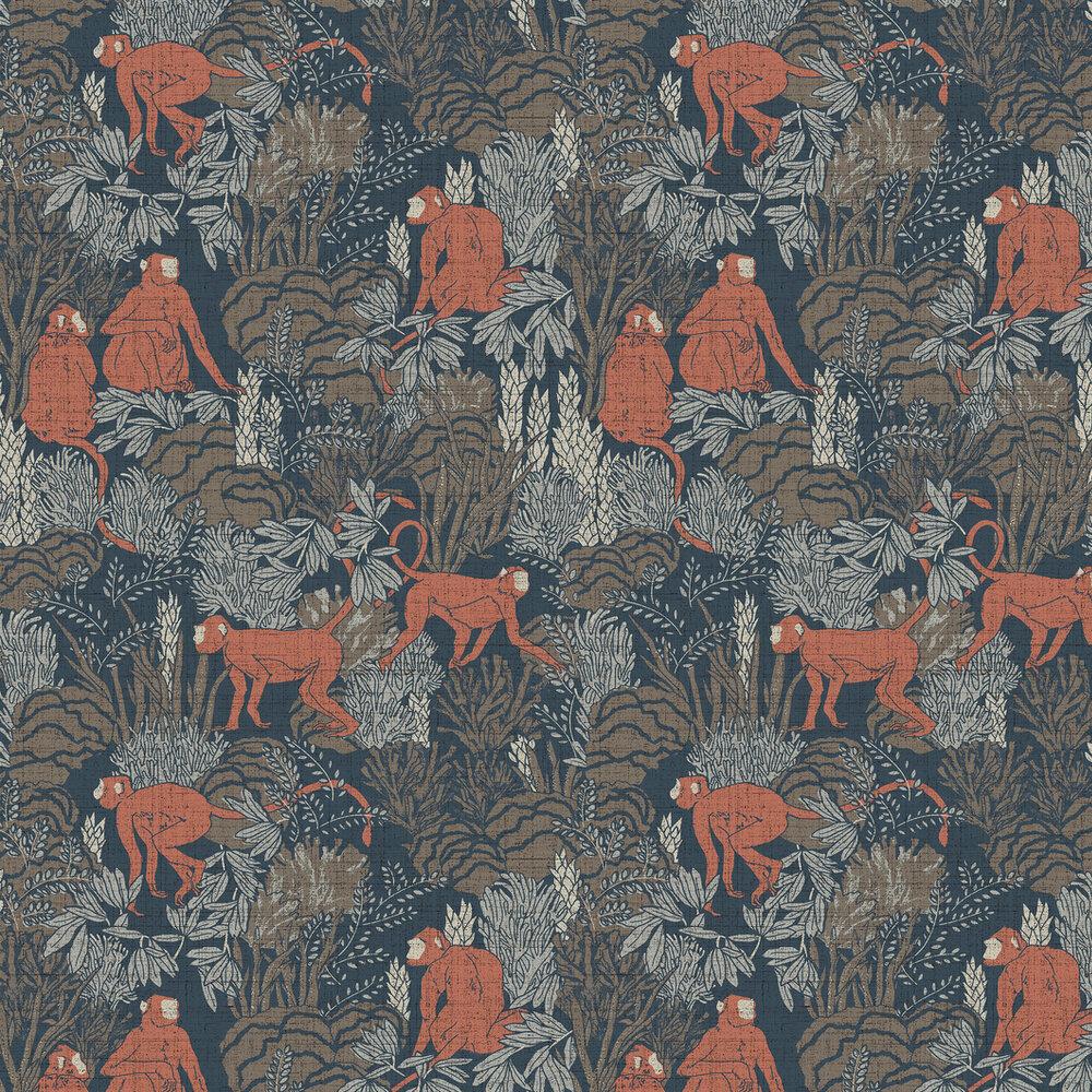 Langur Wallpaper - Red copper - by Arte