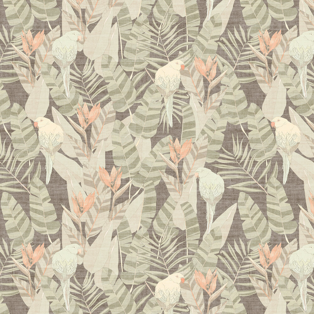 Arcadia Wallpaper - Muted green - by Arte