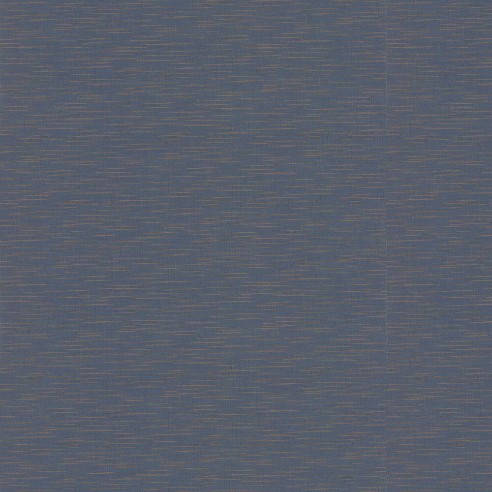 Tiziano Plain Wallpaper - Midnight - by Jane Churchill