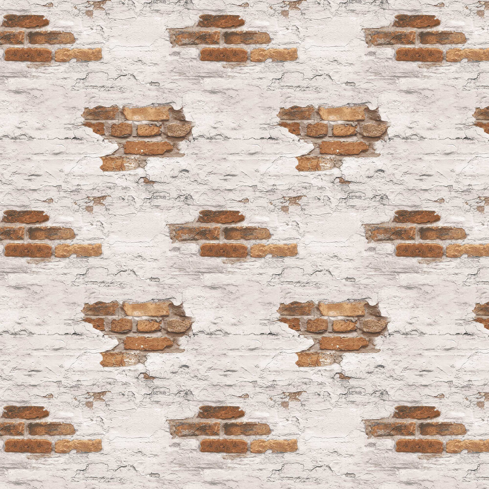 Distressed Brick Wallpaper - by Galerie