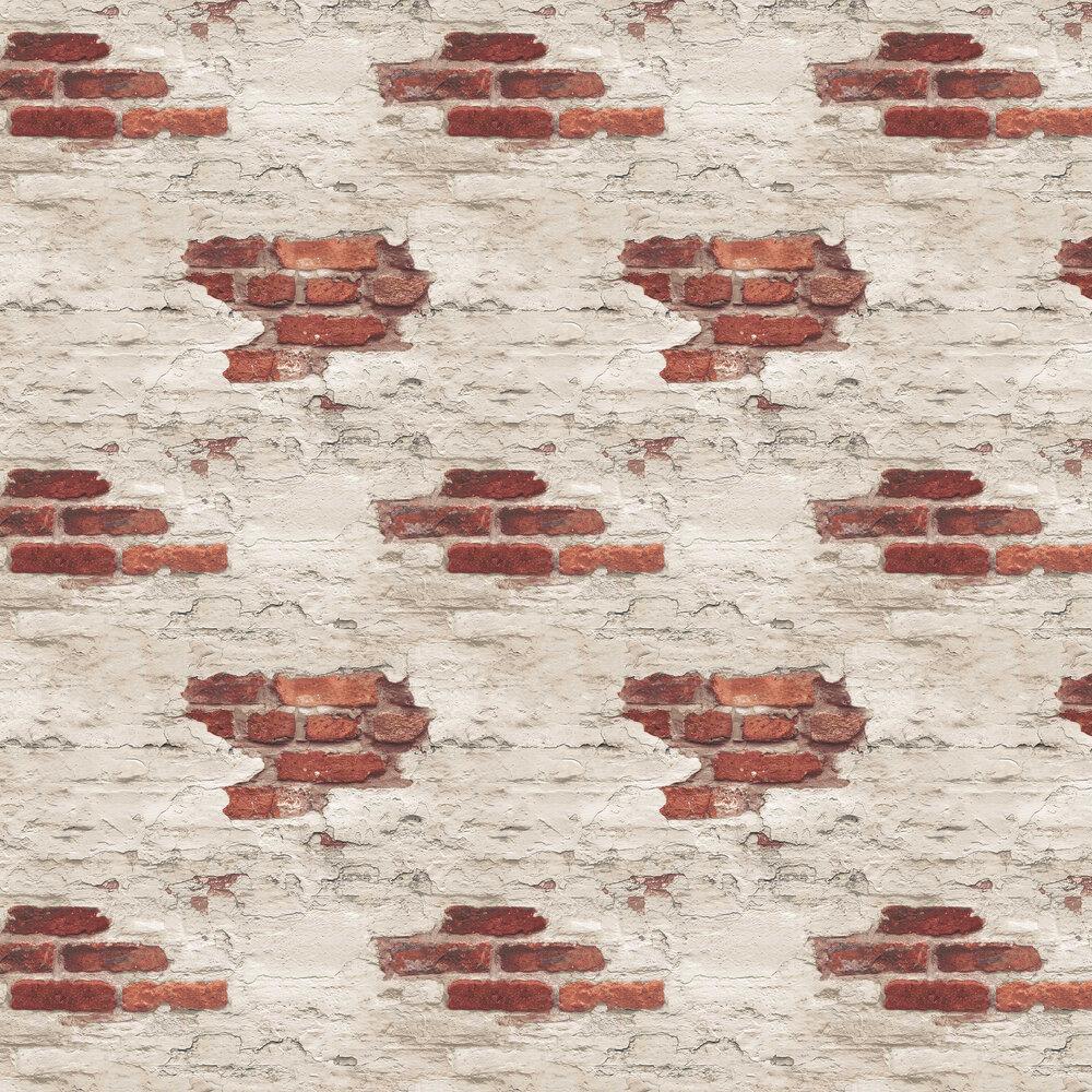 Galerie Distressed Brick Red Brick Wallpaper - Product code: G45354