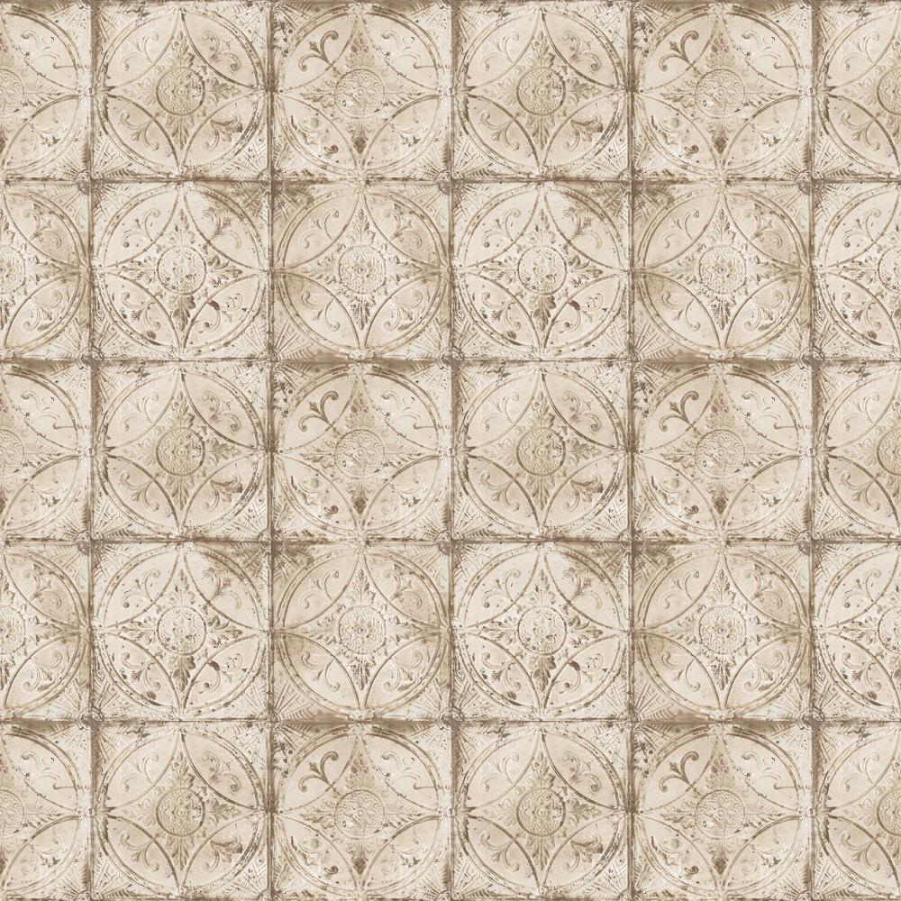 Galerie Tin Tile Cream Wallpaper - Product code: G45375