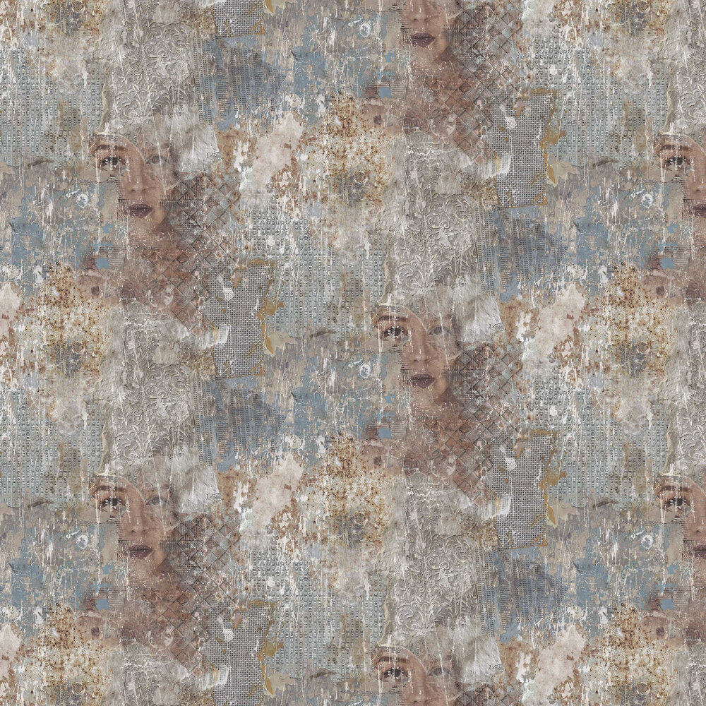 Distressed Wall  Wallpaper - Multi-coloured - by Galerie