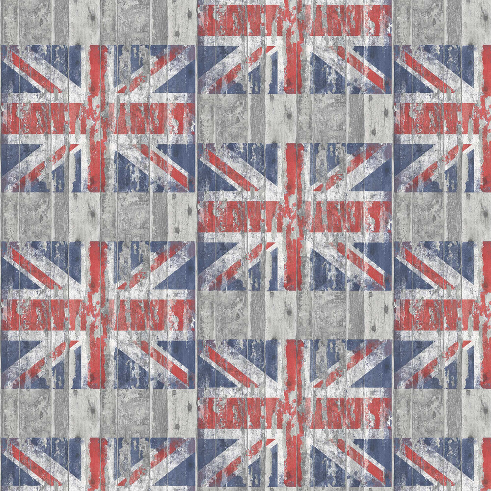 Galerie Distressed Flag Wood Multi-coloured Wallpaper - Product code: G45382