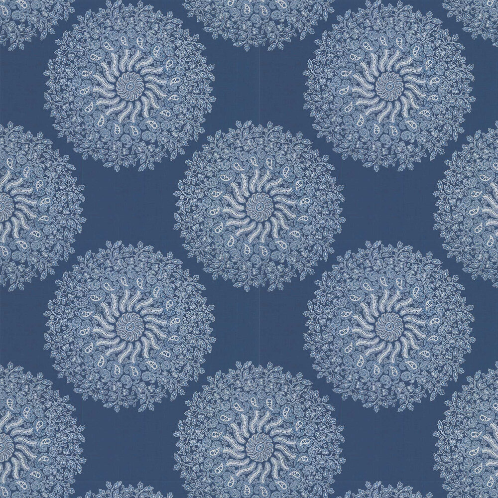 La Provence Wallpaper - Navy - by Anna French