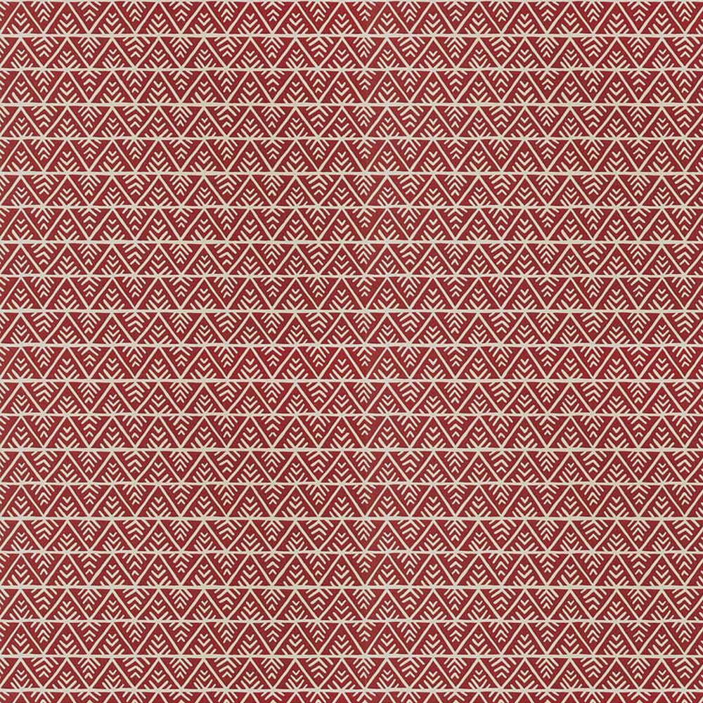 Jules Wallpaper - Red / Flax - by Anna French
