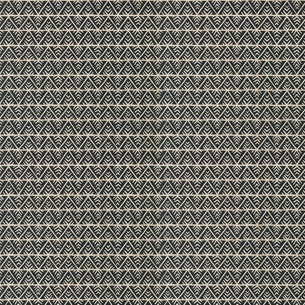 Jules Wallpaper - Black / Flax - by Anna French