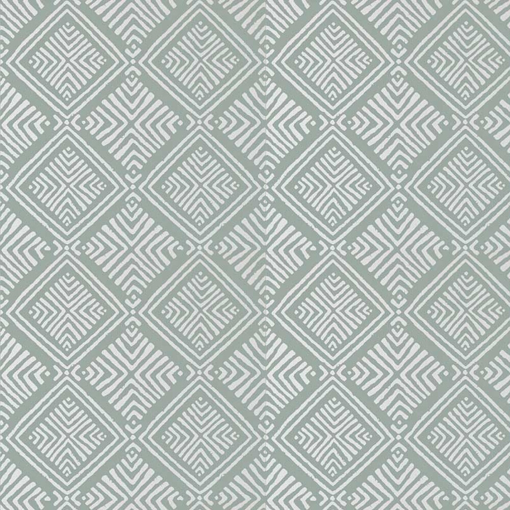 Donavin Diamond Wallpaper - Robin's Egg - by Anna French