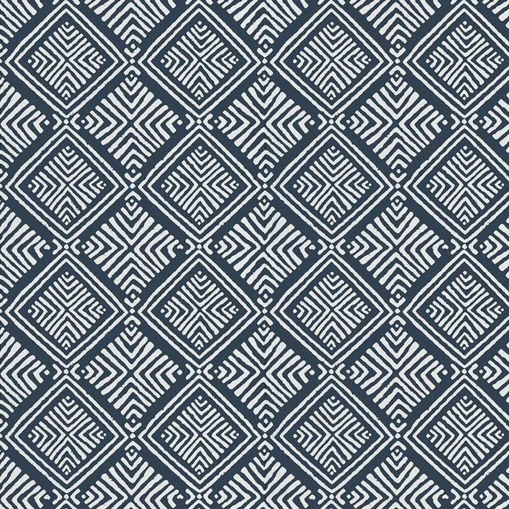 Donavin Diamond Wallpaper - Navy - by Anna French