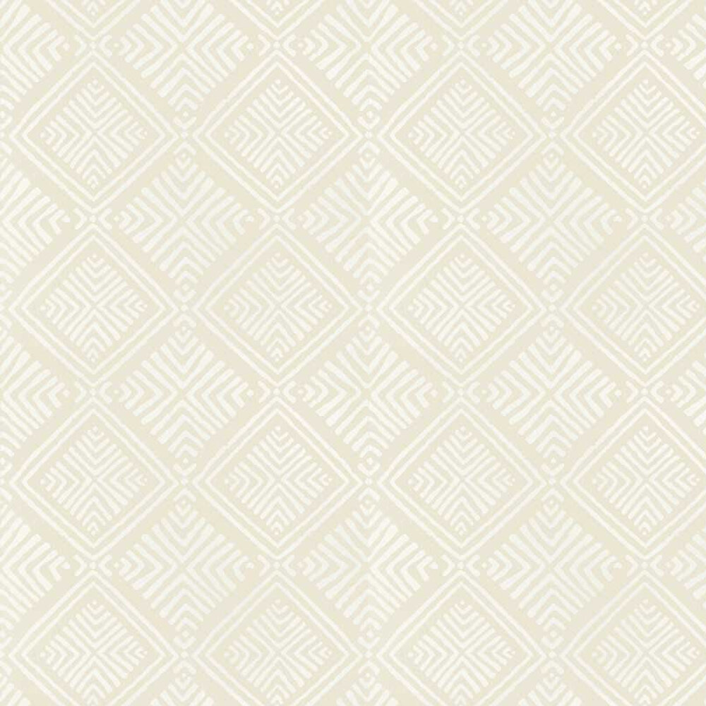 Donavin Diamond Wallpaper - Beige - by Anna French