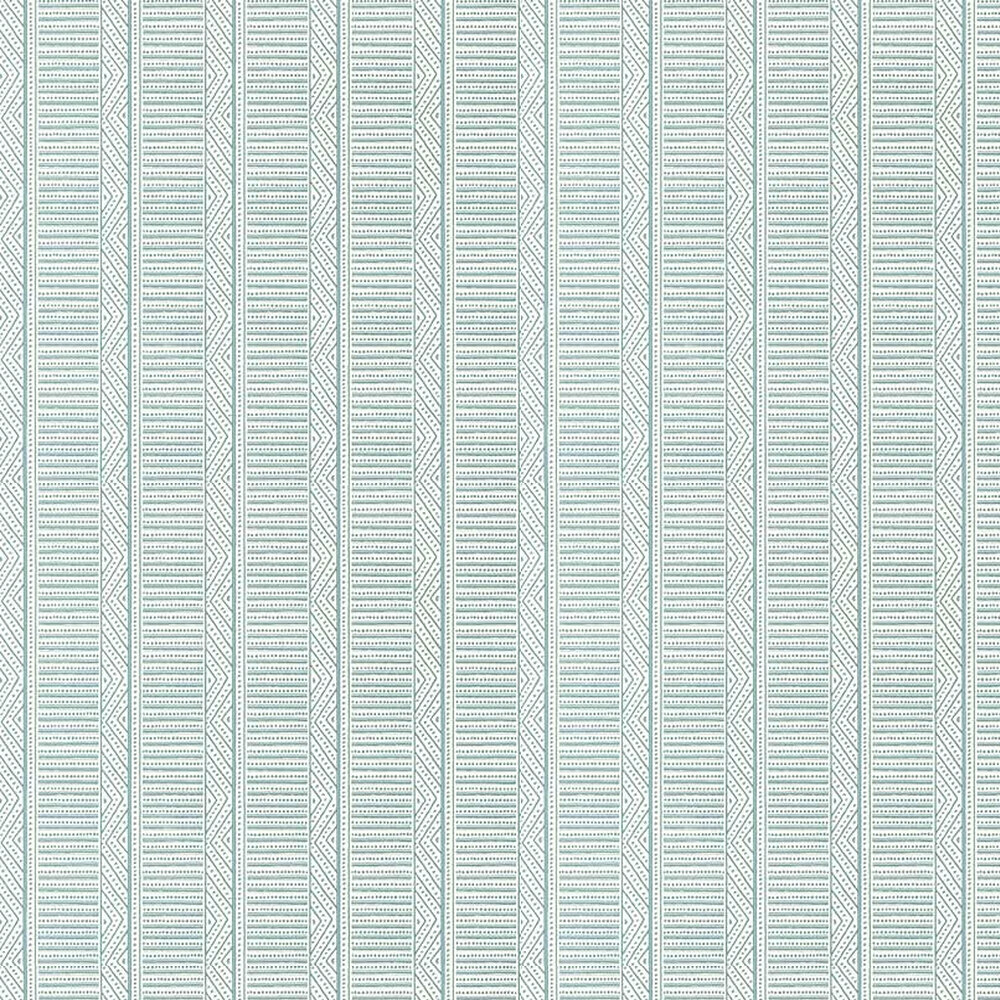 Montecito Stripe Wallpaper - Robin's Egg - by Anna French