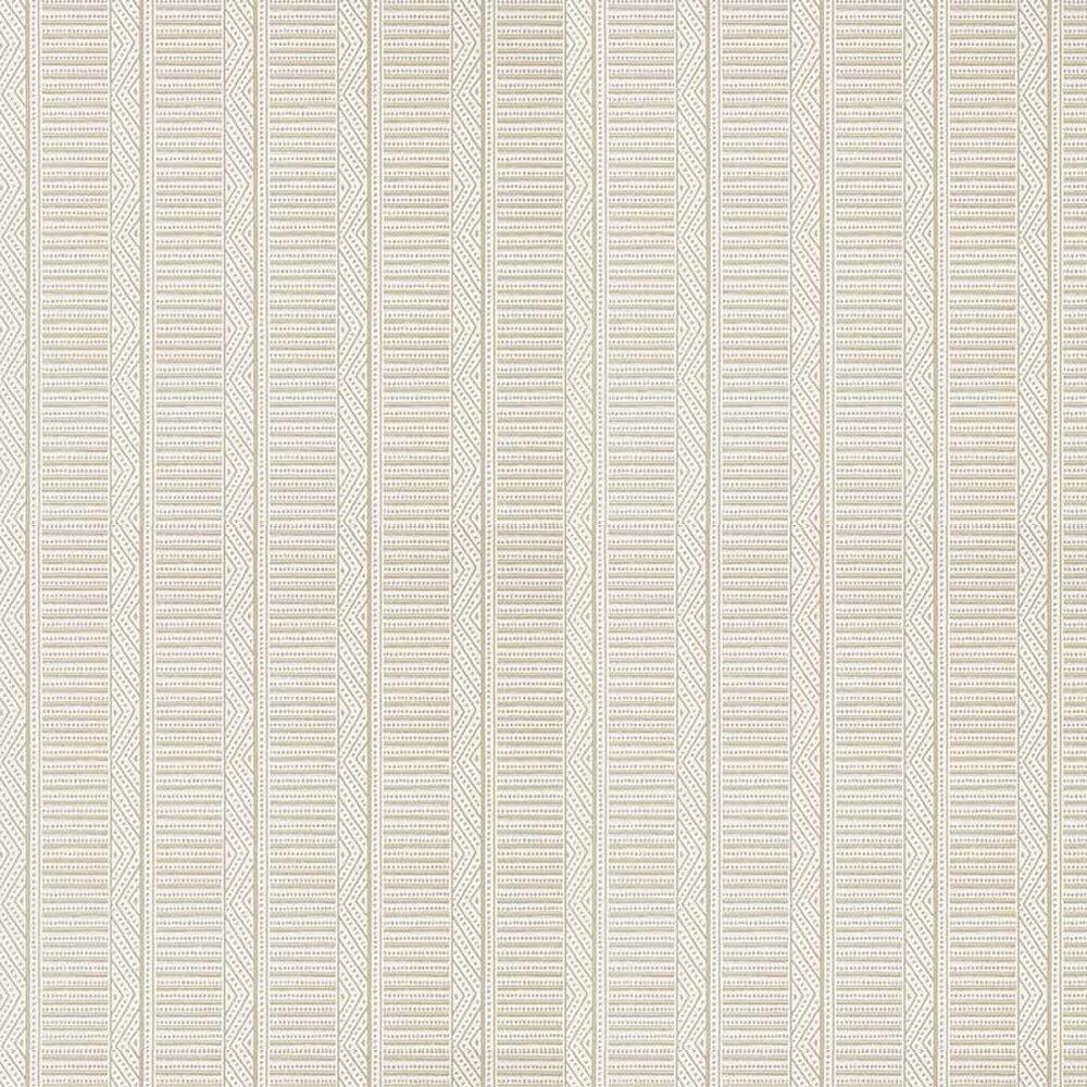 Montecito Stripe Wallpaper - Beige - by Anna French