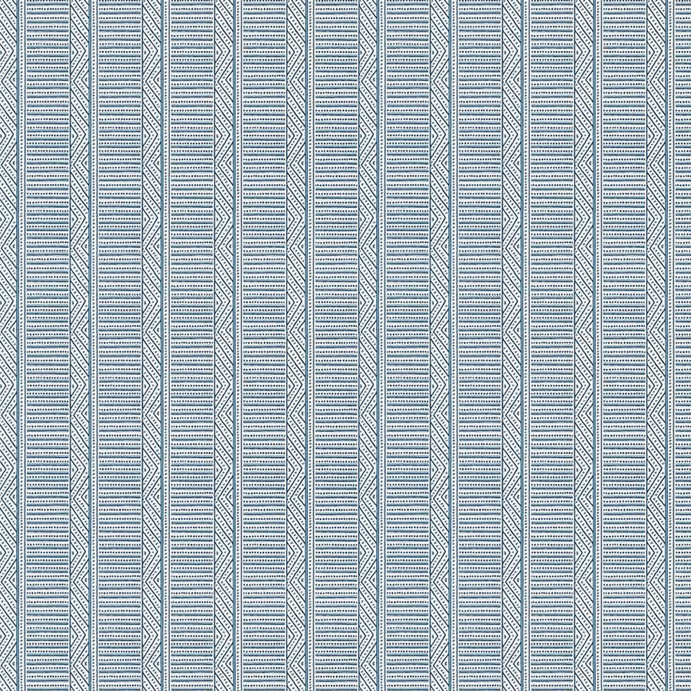 Montecito Stripe Wallpaper - Navy - by Anna French