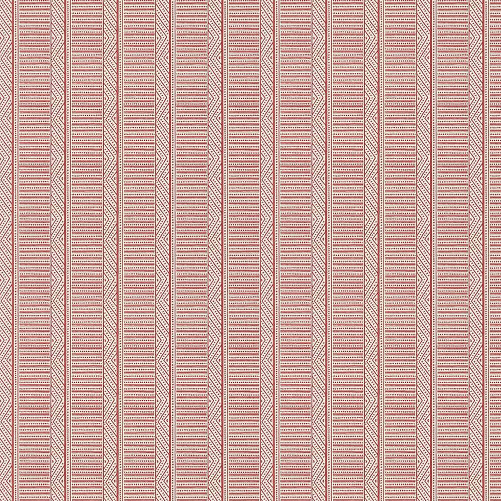 Montecito Stripe Wallpaper - Red - by Anna French