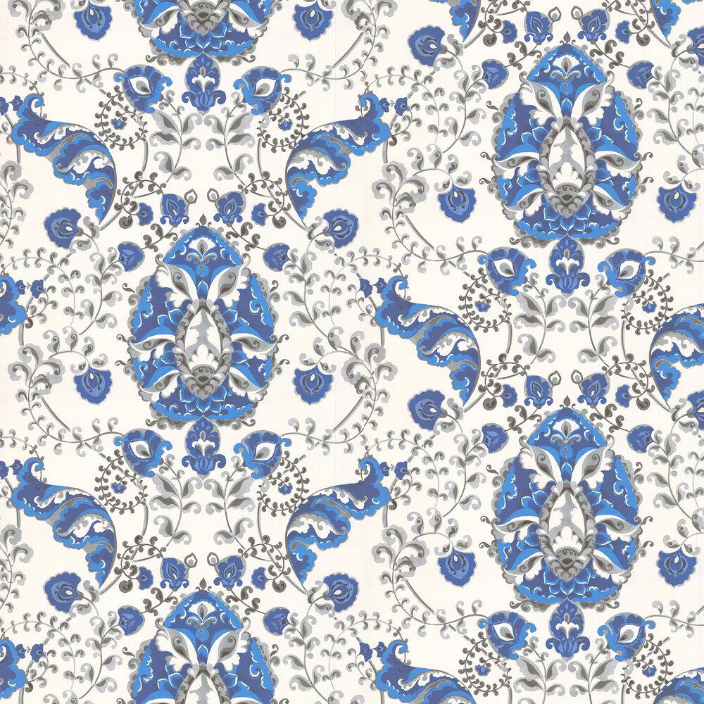 Emperor Wallpaper - Blue - by Kandola