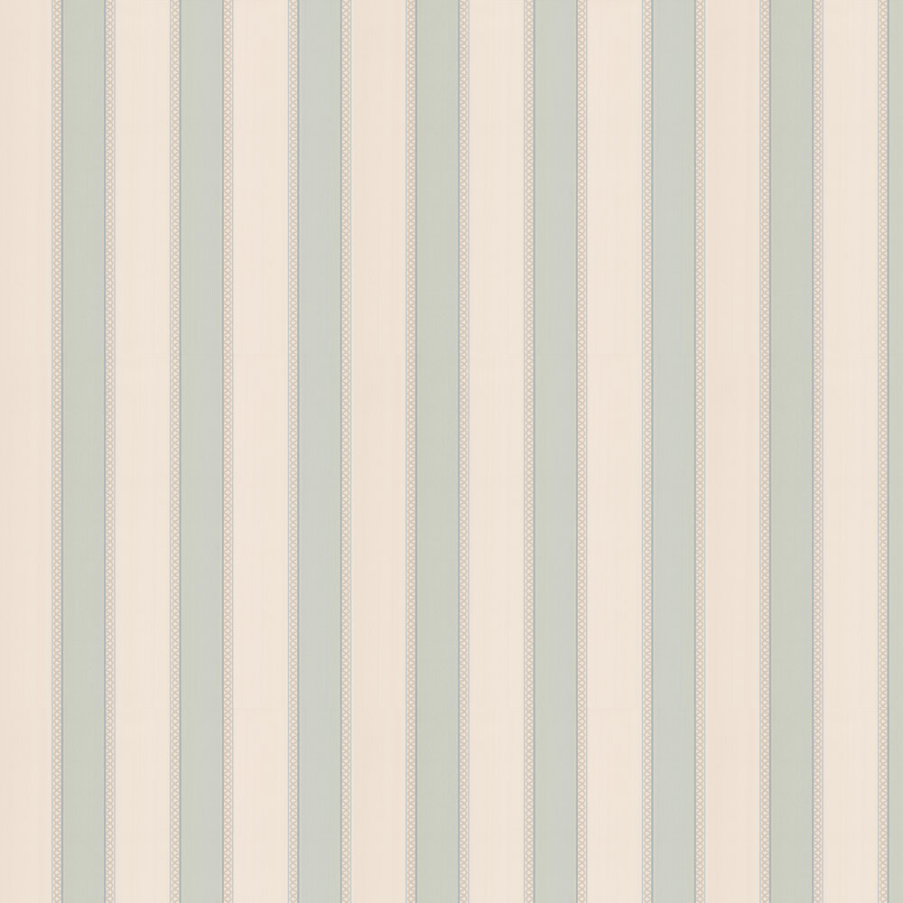 Chartworth Stripe Wallpaper - Old Blue - by Colefax and Fowler