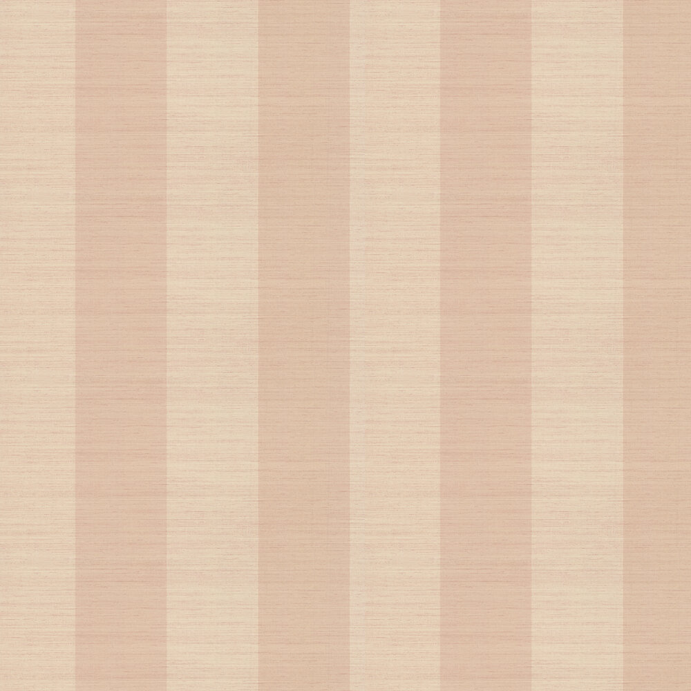 Sandrine Stripe Wallpaper - Pink - by Colefax and Fowler