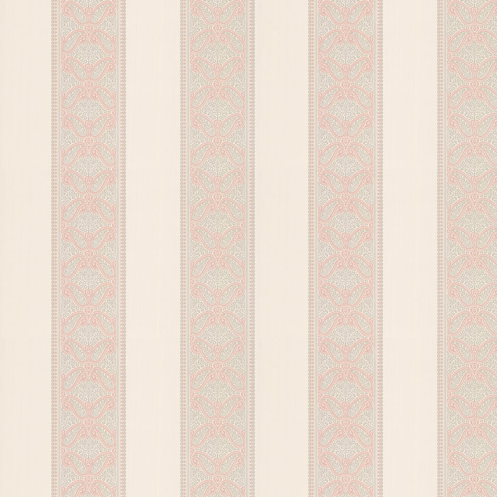 Verney Stripe Wallpaper - Pink - by Colefax and Fowler