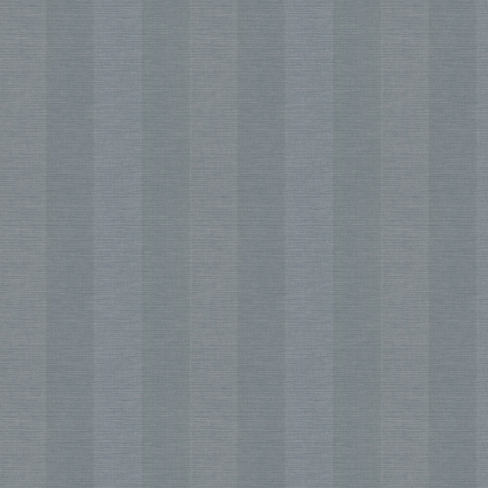 Appledore Stripe Wallpaper - Navy - by Colefax and Fowler