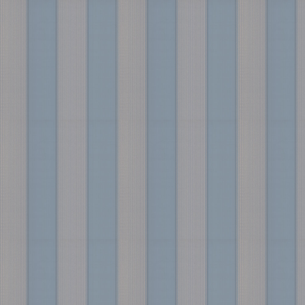 Mallory Stripe Wallpaper - Navy - by Colefax and Fowler