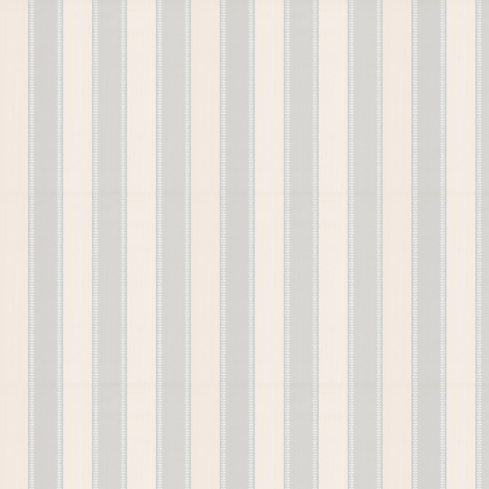 Hume Stripe Wallpaper - Aqua - by Colefax and Fowler