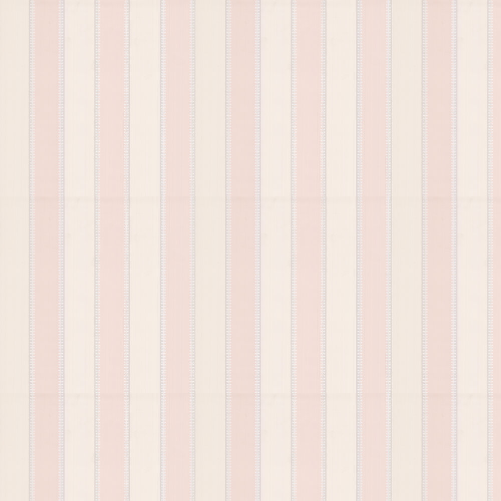 Hume Stripe Wallpaper - Pink - by Colefax and Fowler
