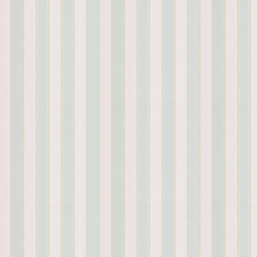 Graycott Stripe Wallpaper - Aqua / Green - by Colefax and Fowler