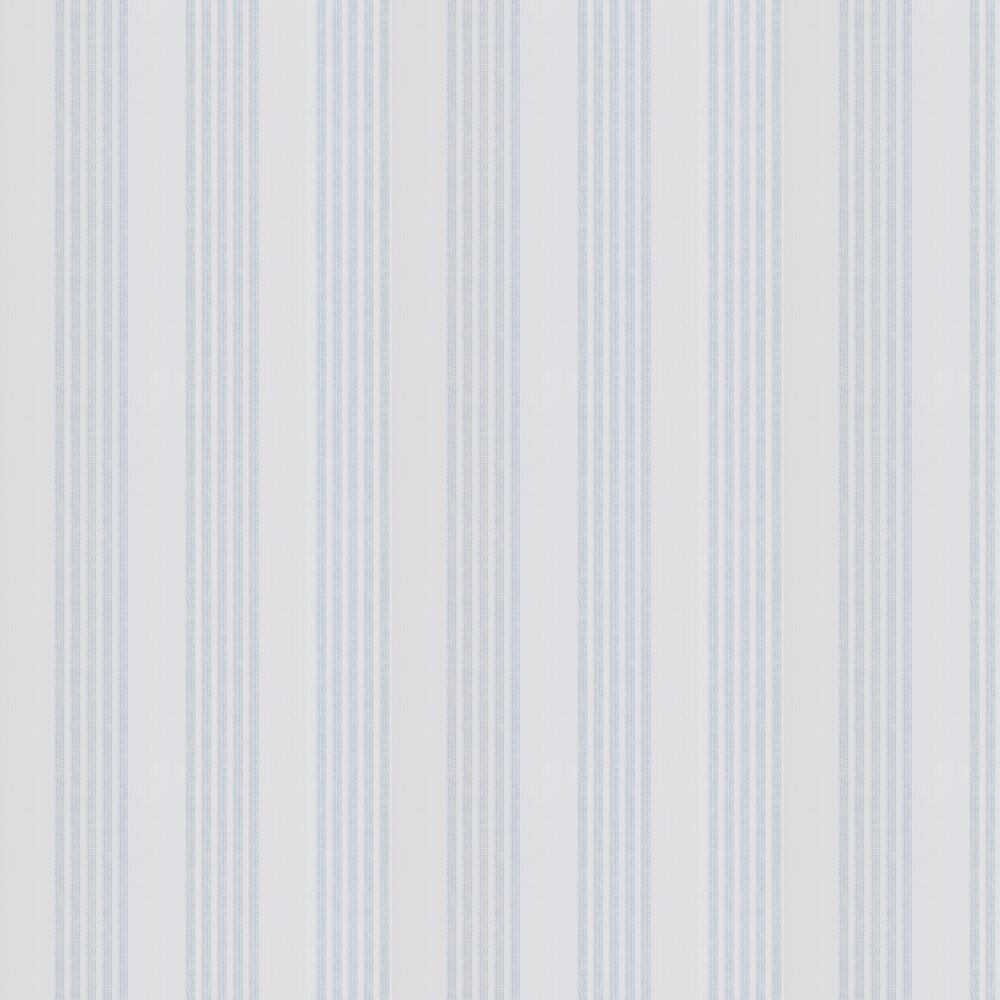 Jude Stripe Wallpaper - Blue - by Colefax and Fowler