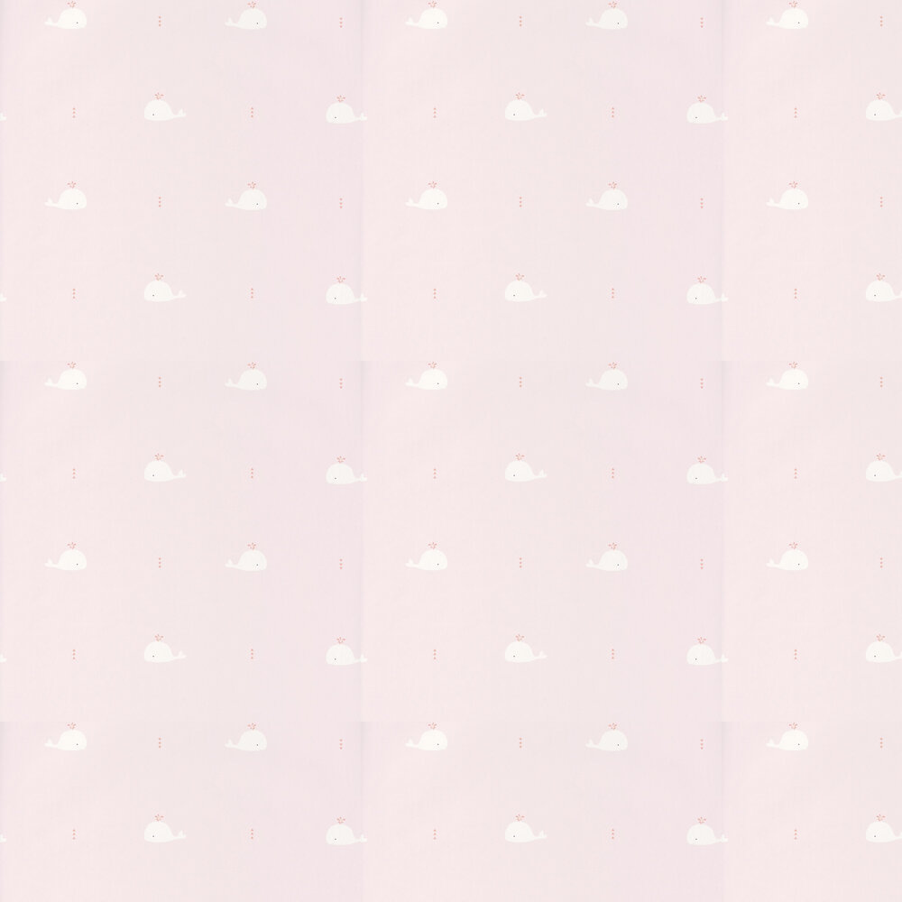Casadeco Whale Pink & White Wallpaper - Product code: HPDM8279 4220